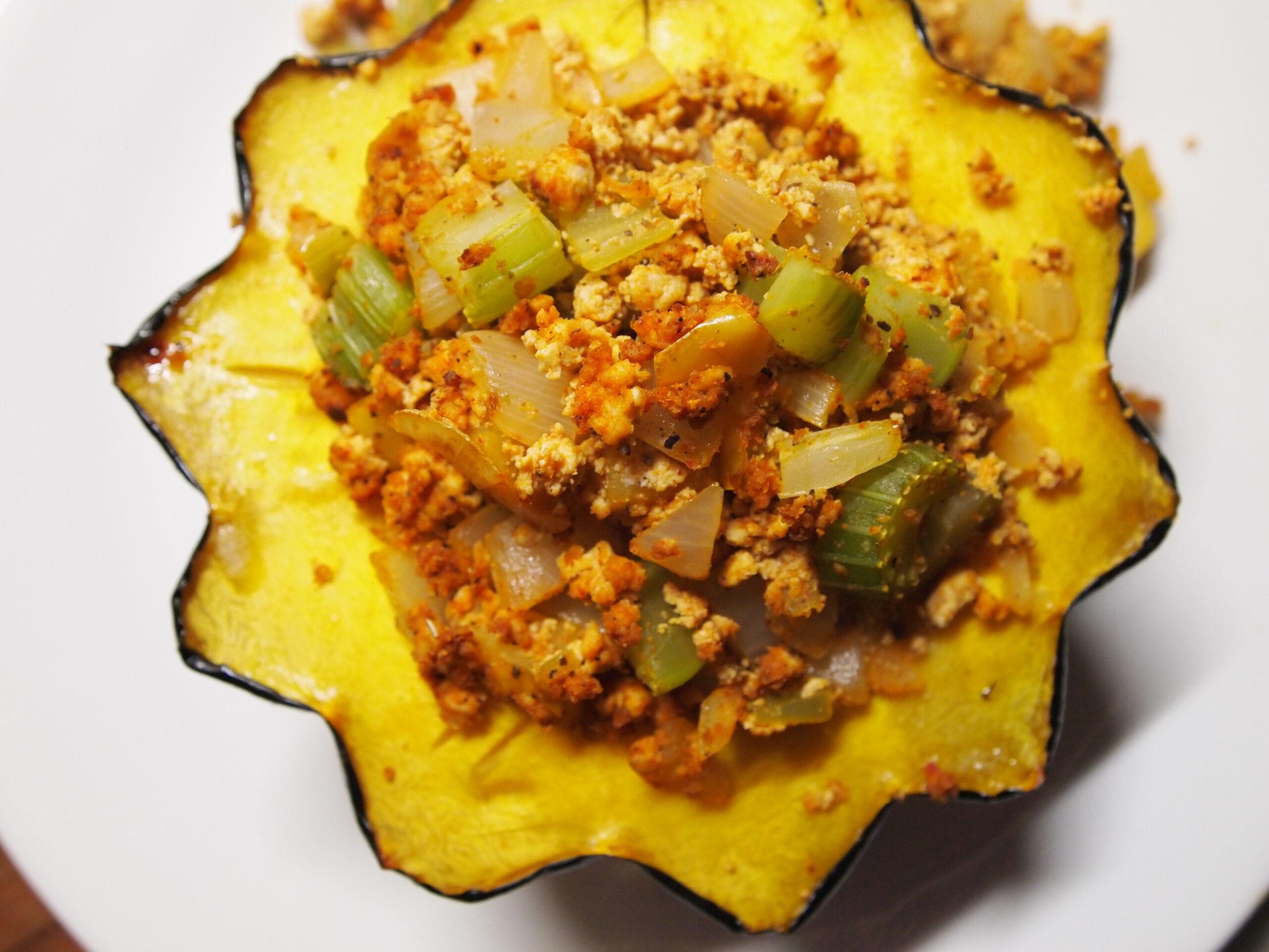 Fall Recipes – Roasted Stuffed Acorn Squash