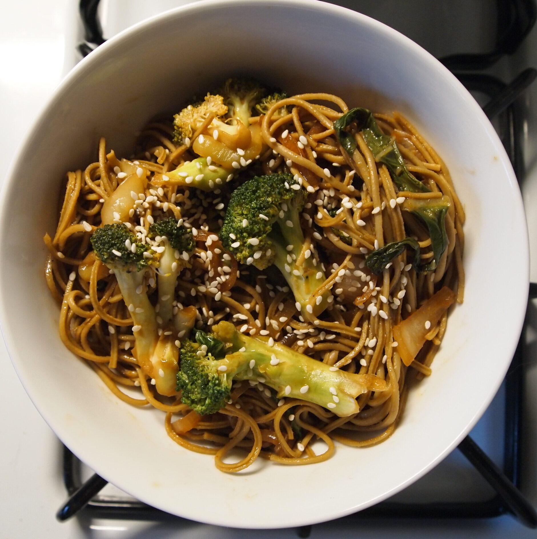 Broccoli & Bok Choy Noodle Bowl