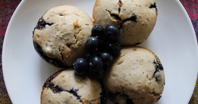1 Bowl Blueberry Muffins