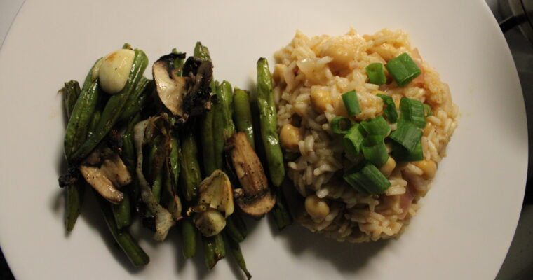 Roasted Green Beans & Rice Pilaf