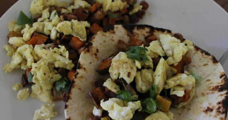 Leftovers Breakfast Tacos
