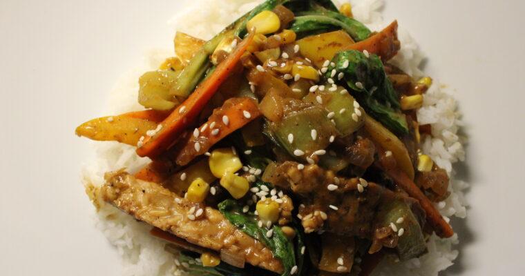 Bok Choy & Tempeh Stir Fry