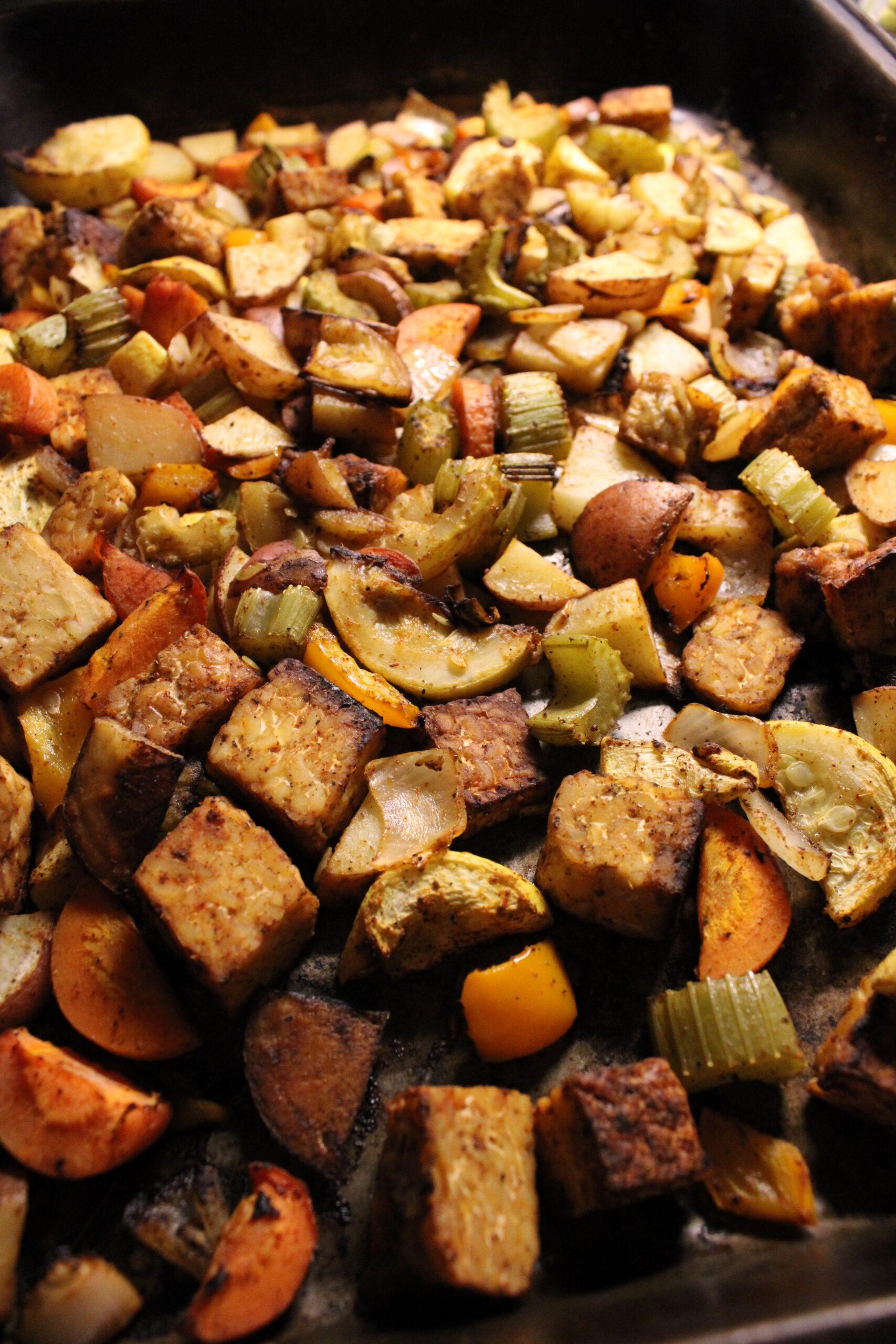 Summer Roasted Tempeh & Vegetables