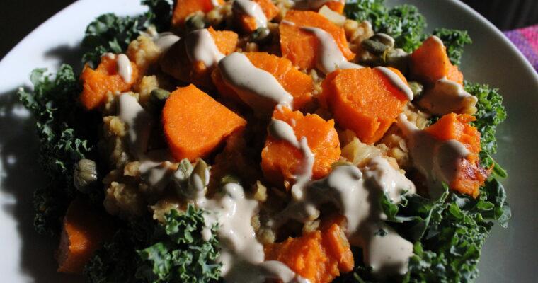 Mediterranean Sweet Potato & Lentils