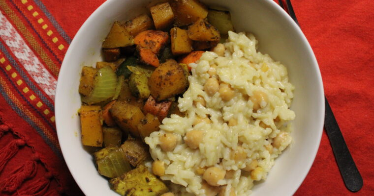 Creamy Coconut Pilaf & Curry Vegetables
