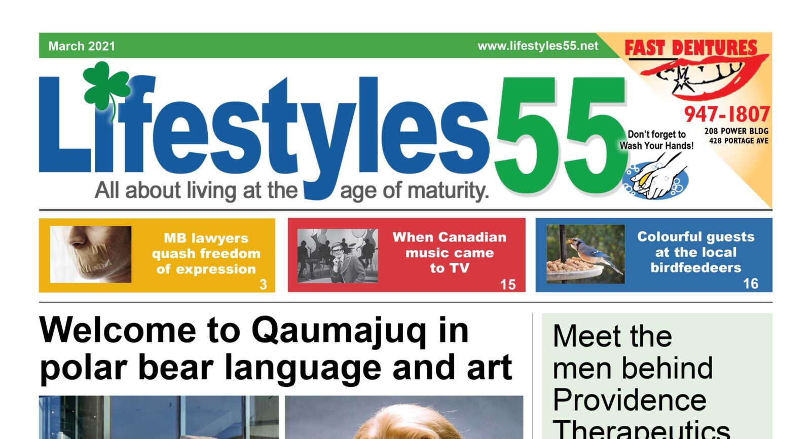 Lifestyles 55 March 2021