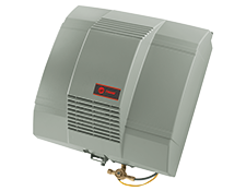 side profile of an air humidifier for residential air conditioning system