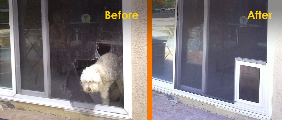 Pet Proof Screens & Pet Doors