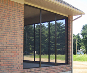 Commercial Tiger Wire Screen Window Installation