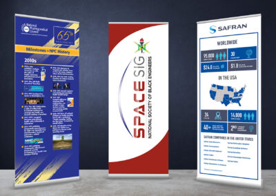 Assorted Conference Banner Stands