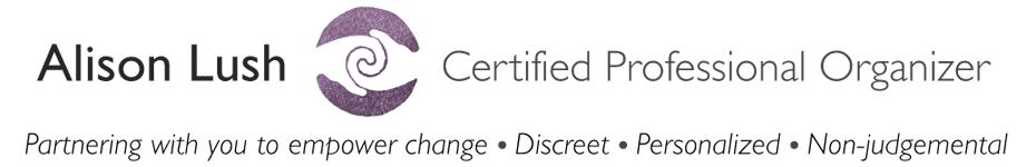 Alison Lush Certified Professional Organizer