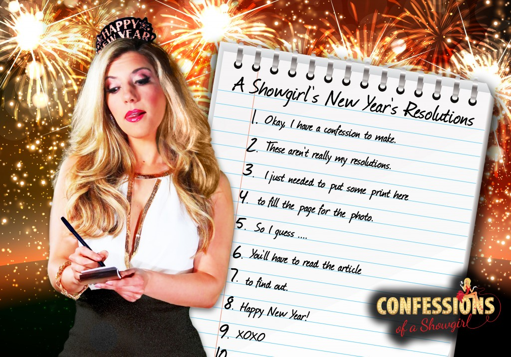 "Maren Wade's Confessions of a Showgirl: ""A Showgirl's Top Ten New Year's Resolutions"""