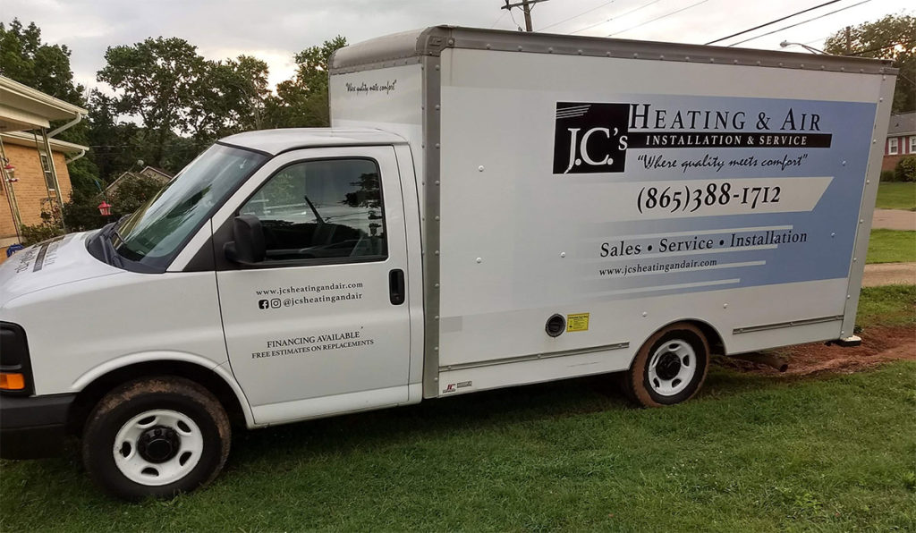 JC's Heating and Air Box Truck