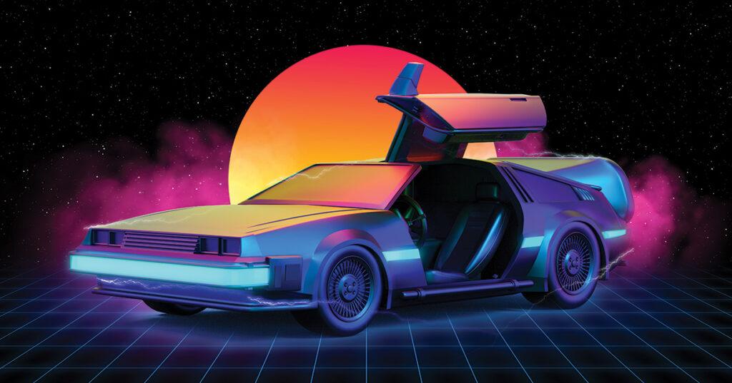 illustration of futuristic car