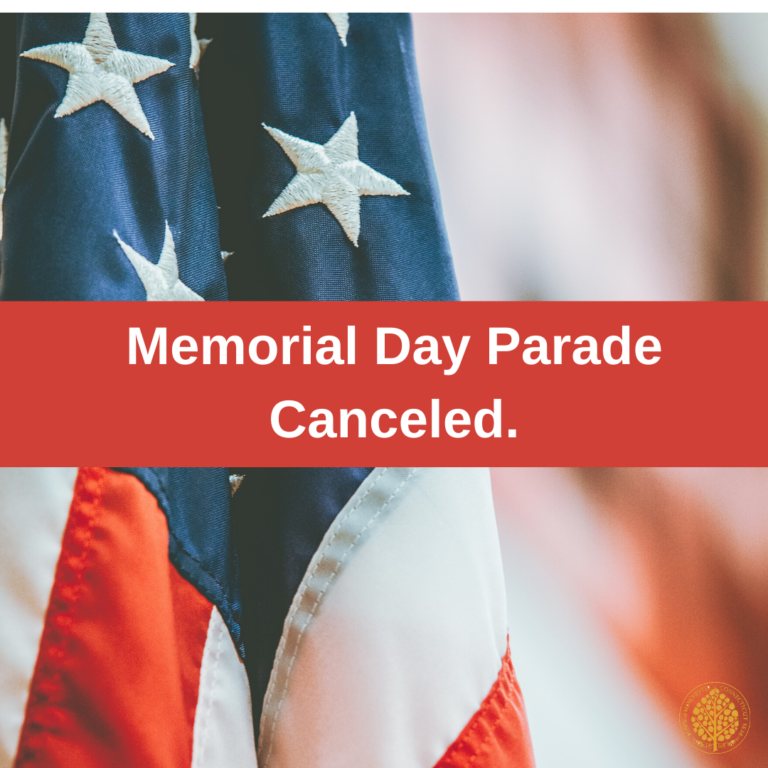 memorial day parade canceled