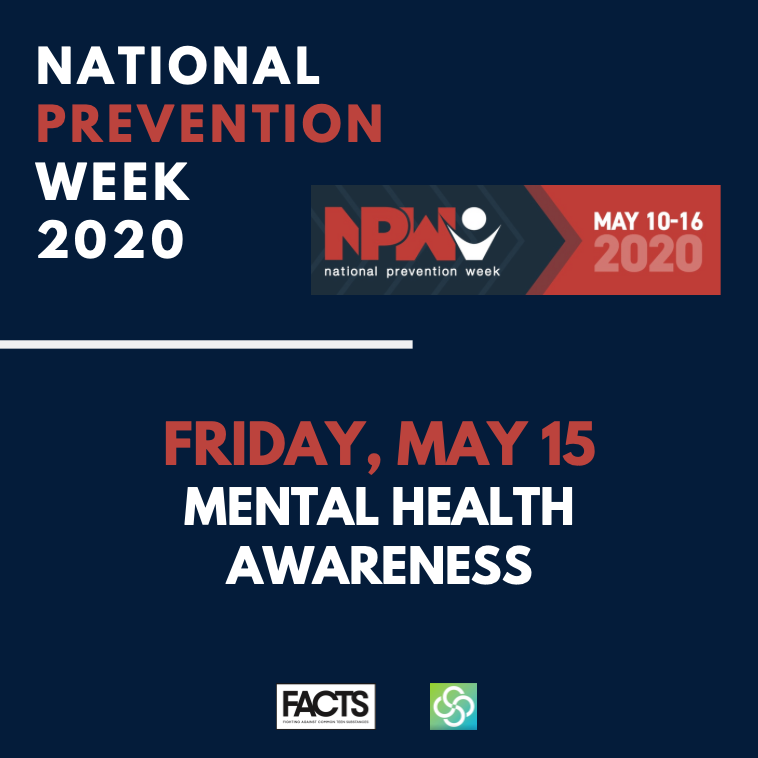 National Prevention Week_Friday May 15, Mental Health Awareness