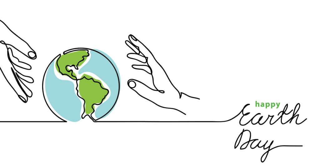 illustration of two hands holding a globe