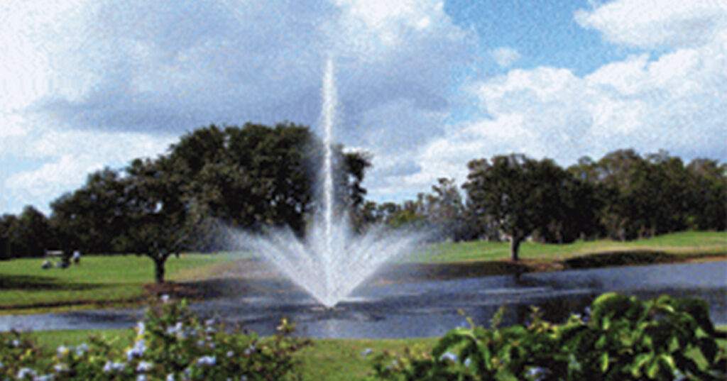 Here is an example of an AquaMaster Celestial fountain, the same kind being installed in Center Springs Pond.