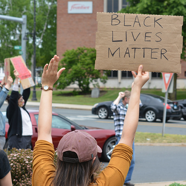 BLM Protests at Center of Main and Center Street in Manchester CT
