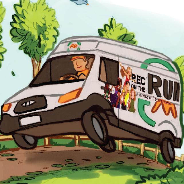 Rec on the Run Van Illustration