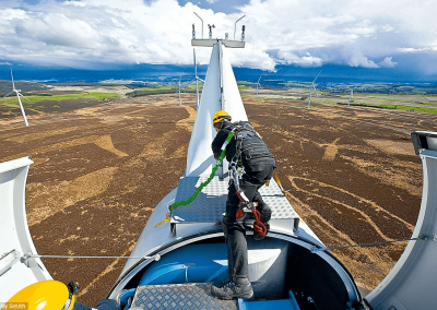 ES&H Support for Wind Turbine Construction and Commissioning