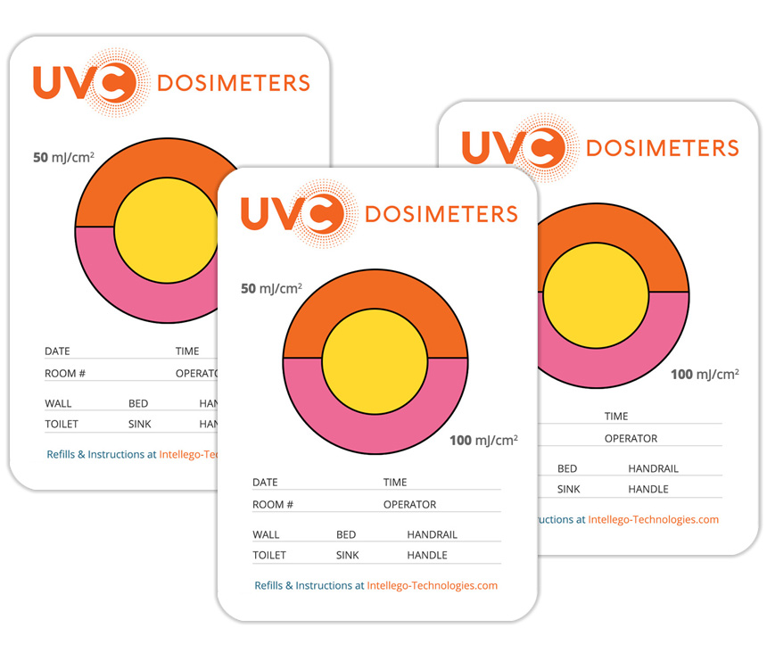 UVC 100 dosimeter cards