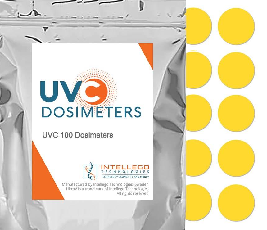 UVC 100 dosimeters