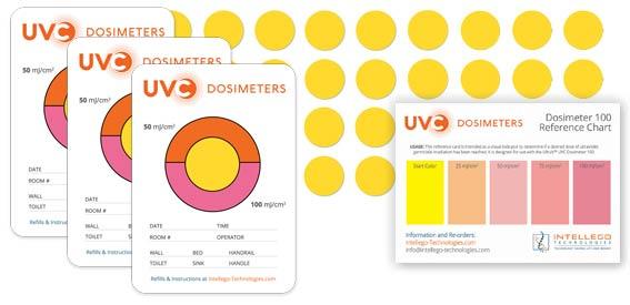 uvc 100 product family dosimeters