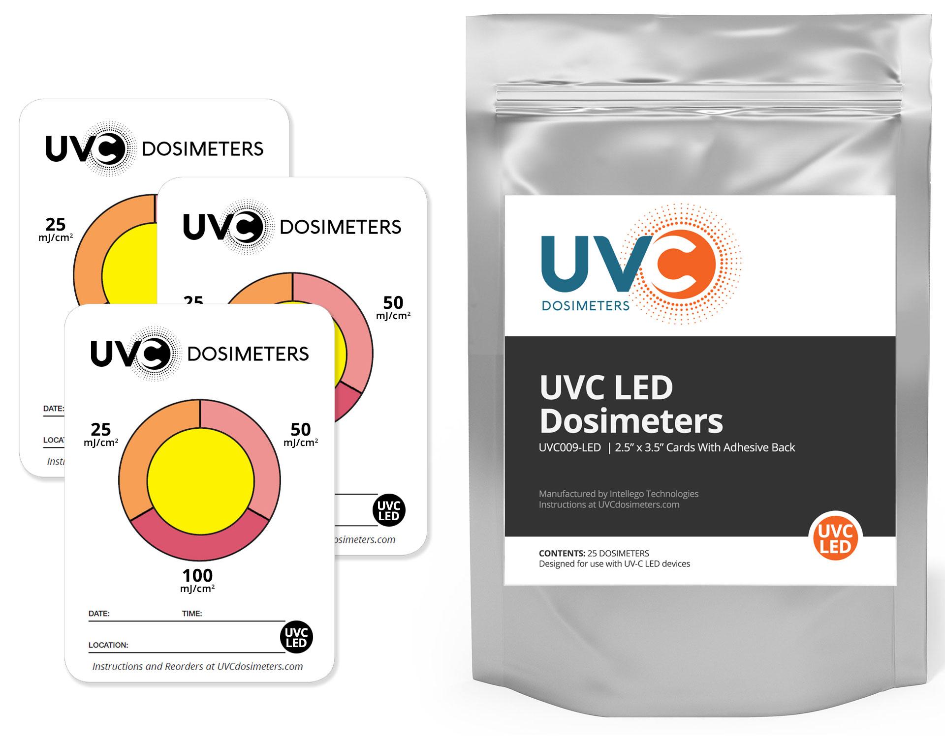 UVC LED dosimeters