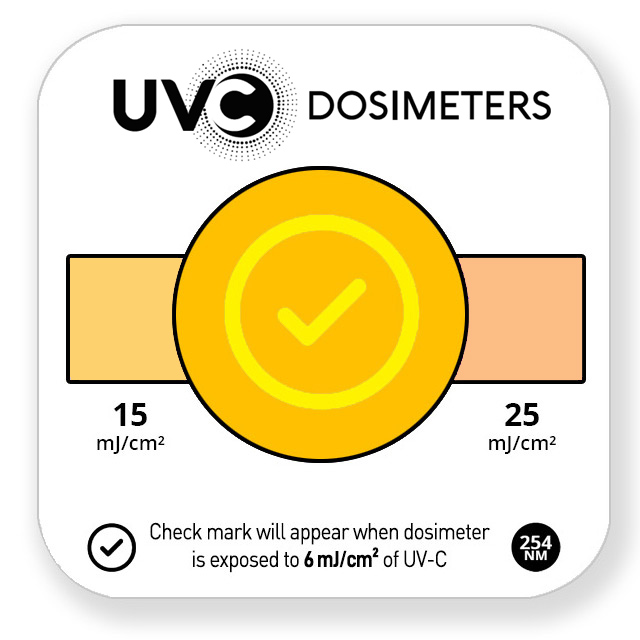 quick check uvc dosimeter card - exposed