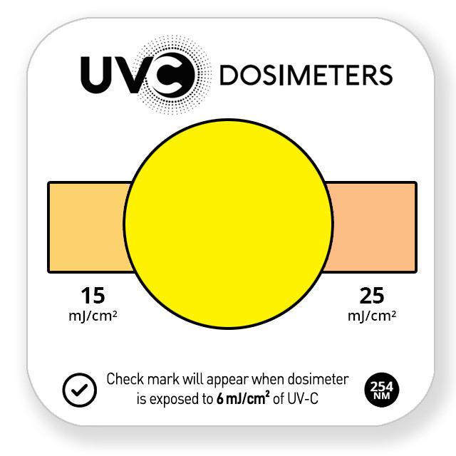 quick check uvc dosimeter card - unexposed