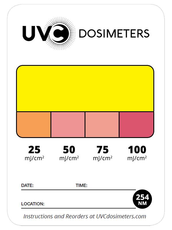 UVC dosimeter tricard 254