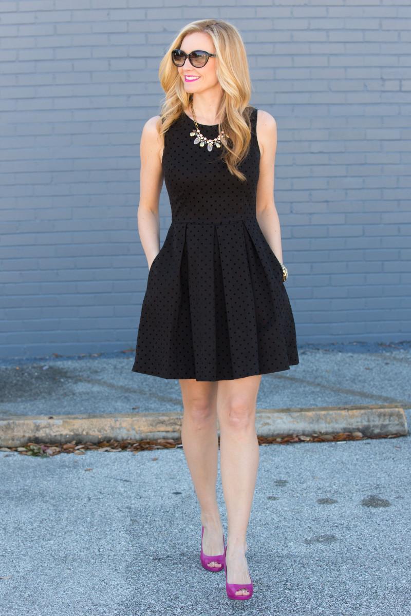 Polka Dot LBD (little black dress)