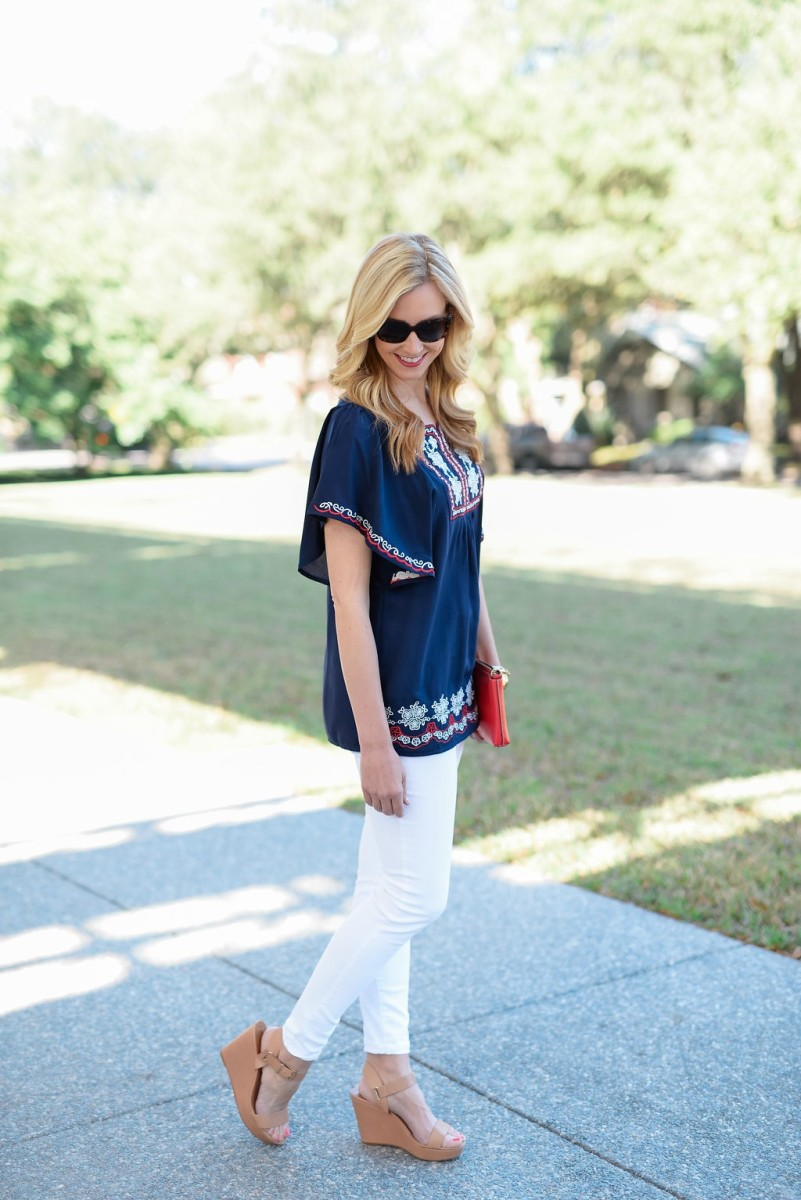 Embroidered Tunic and My Favorite White Jeans