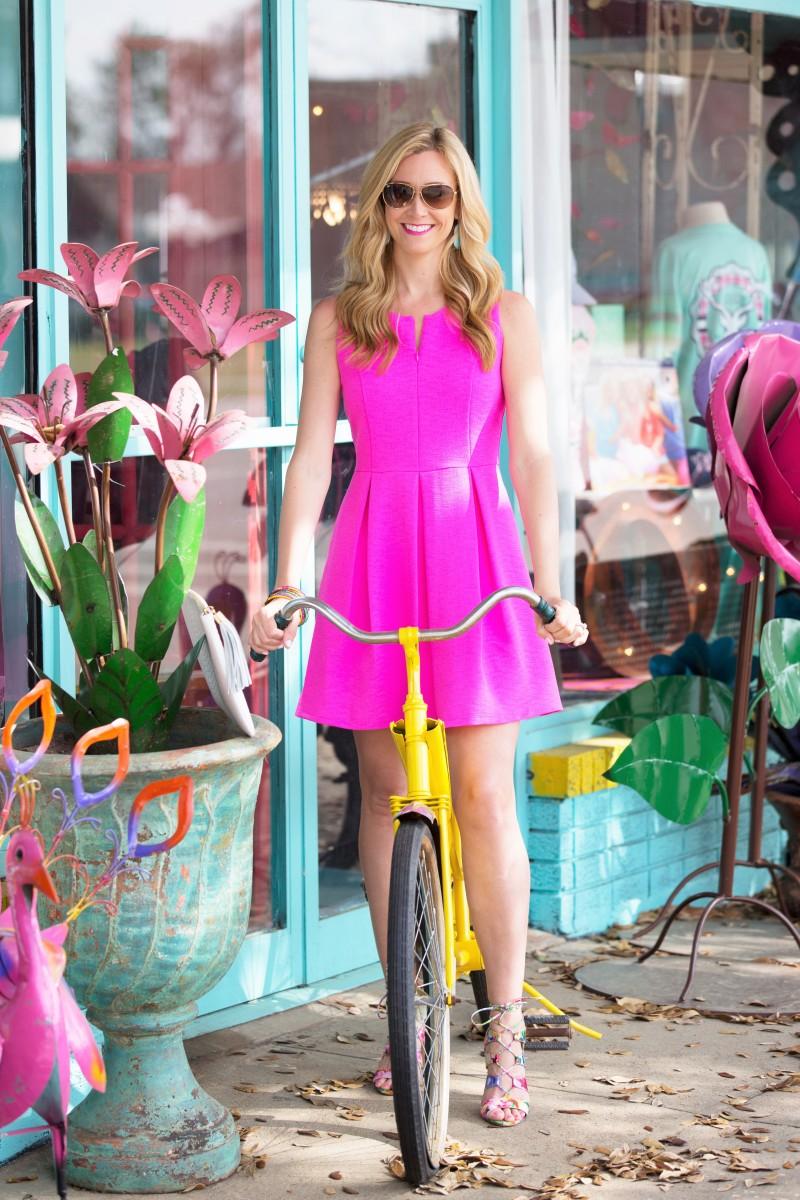 Hot Pink Dress Lace Up Sandals