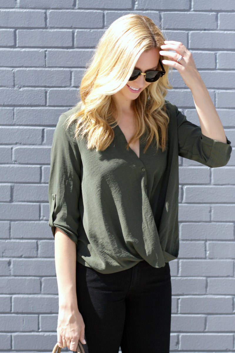 Green Wrap Top