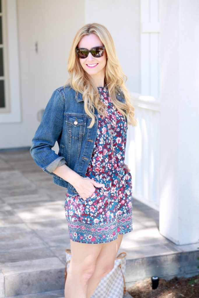 Must Have Floral Romper by fashion blogger Sara of Haute & Humid