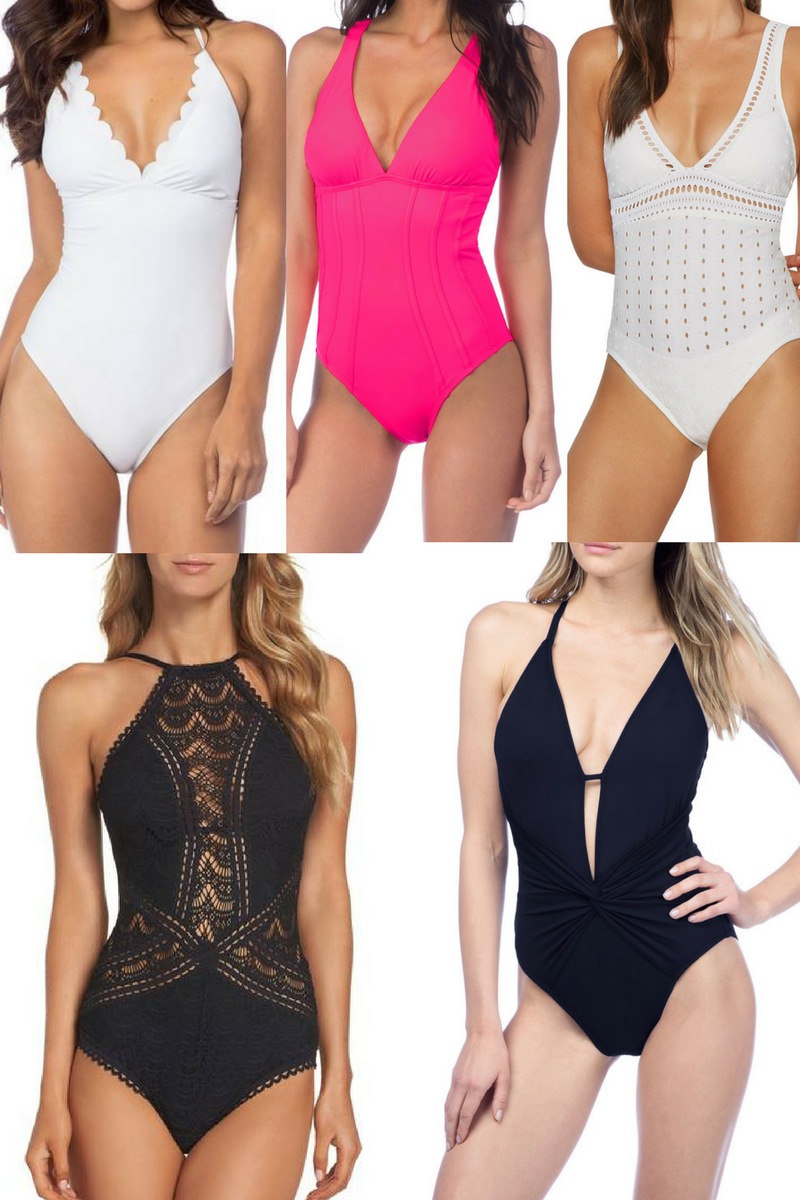 one piece swimsuits - One Piece Swimsuits For Every Body Type by popular Houston fashion blogger Haute & Humid