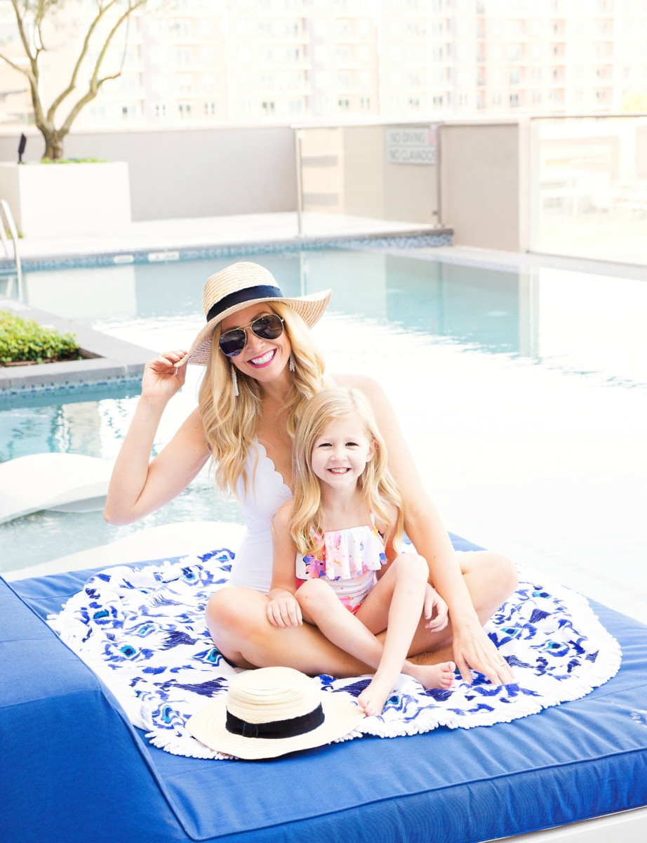 Mommy and Me Sun Hat By Hat Attack by popular Houston fashion blogger, Haute & Humid