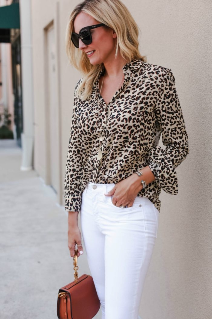 leopard shirt - Fall Trend: Leopard Fashion featured by popular Houston fashion blogger, Haute & Humid