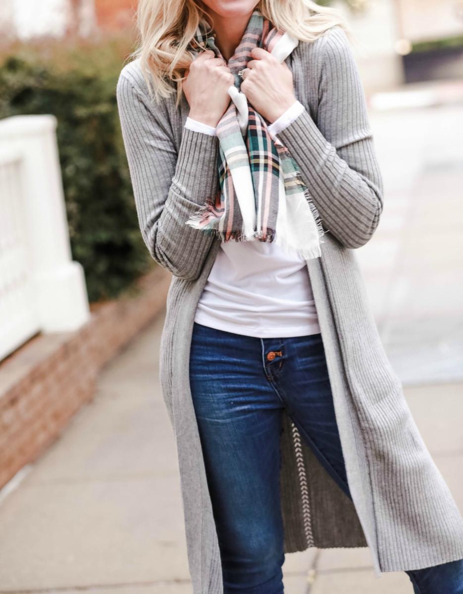 plaid scarf | Walmart | Affordable Fall Fashion featured by top Houston fashion blog Haute & Humid