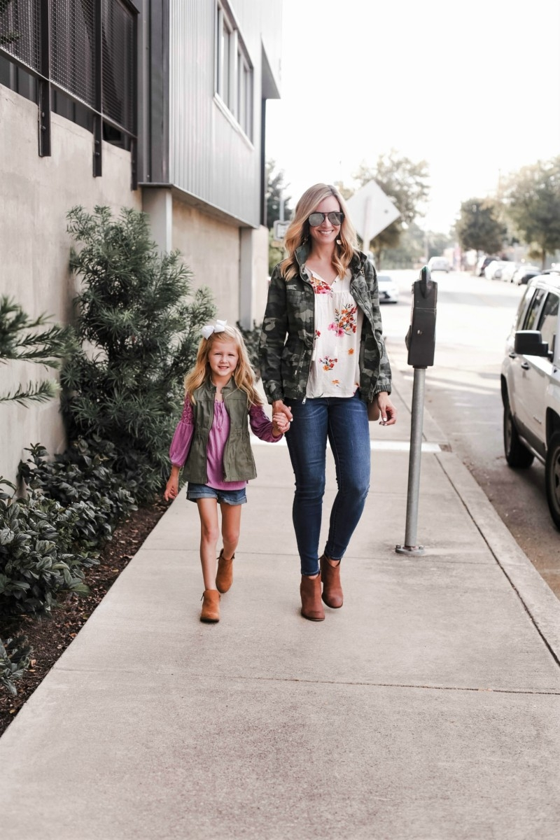mommy and me look | Old Navy | Fall Fashion | 5 Ways To Style A Camo Jacket featured by top Houston fashion blog Haute & Humid
