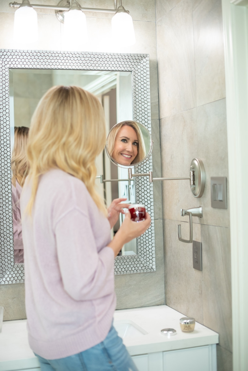 Olay | 7 No Fail Tips For Glowing Winter Skin featured by top Houston beauty blog Haute & Humid