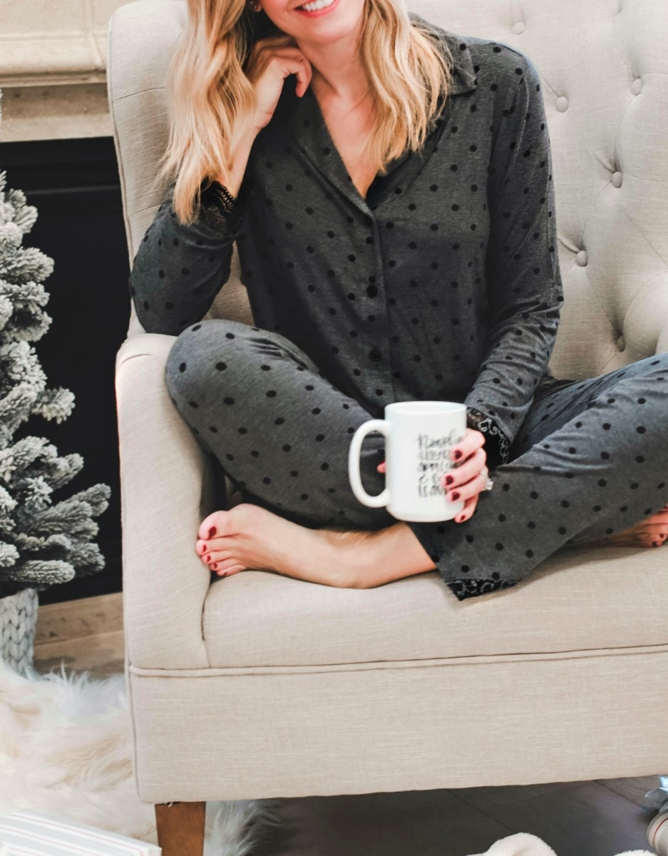 Cute Holiday Pajamas With Soma + Giveaway featured by top Houston fashion blog Haute & Humid