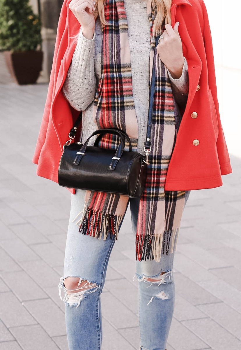 Brahmin | jcrew jacket | The Perfect Black Crossbody Bag To Gift Yourself This Christmas featured by top Houston fashion blog Haute & Humid