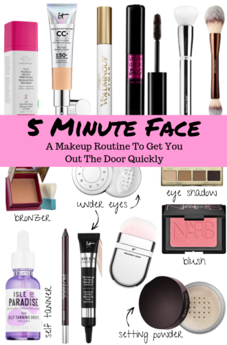 5 Minute Face: An Easy & Quick Everyday Makeup Routine To Get You Out The Door in Minutes