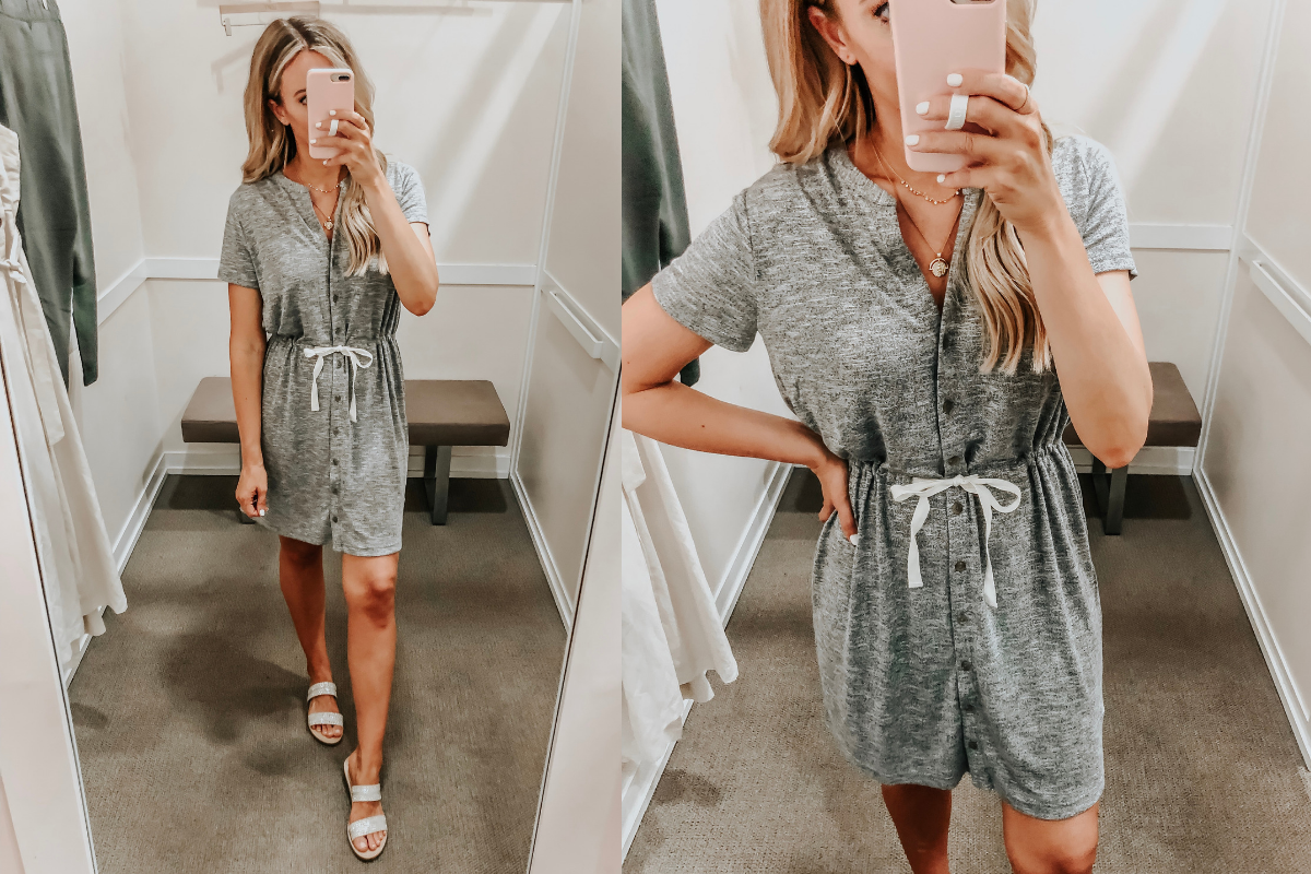 Best Memorial Day Weekend Sales featured by top US fashion blog Haute & Humid; Image of a woman wearing a LOFT summer dress.