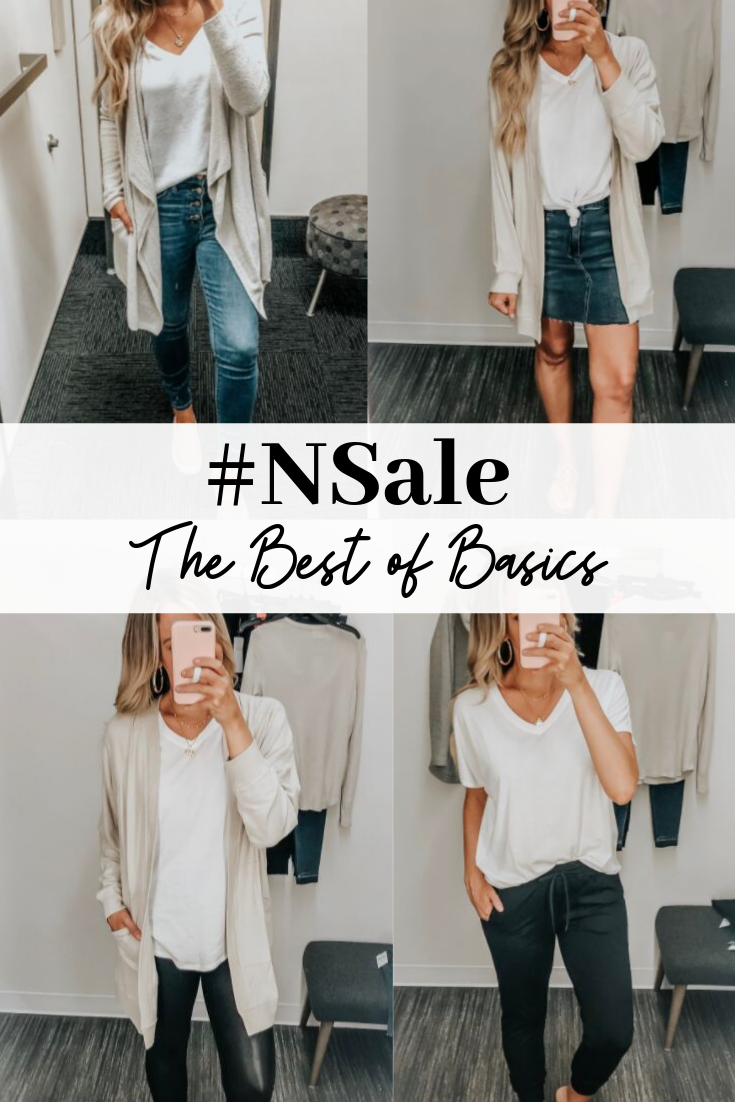 nsale basics | Nordstrom Anniversary Sale Early Access 2019- Best Of Basics by popular houston fashion blog, Haute and Humid: collage image of basic clothing items from the 2019 Nordstrom Anniversary Sale.