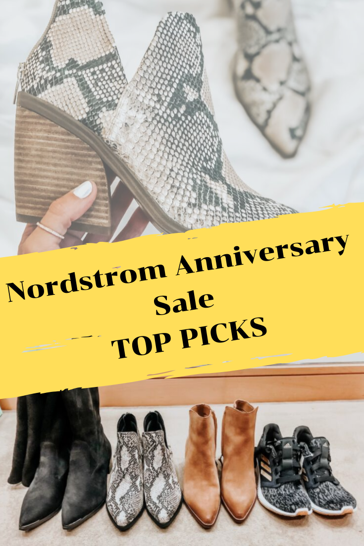 nordstrom anniversary sale favorites | Nordstrom Anniversary Sale Favorites by popular Houston fashion blog, Haute and Humid: pinterest image of shoes for sale during the 2019 Nordstrom anniversary sale.
