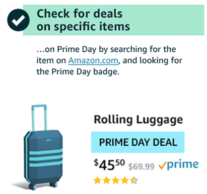 amazon prime day deals | Amazon Prime Day 2019 by popular Houston life and style blog, Haute and Humid: image of ad for Amazon prime day rolling luggage deal.